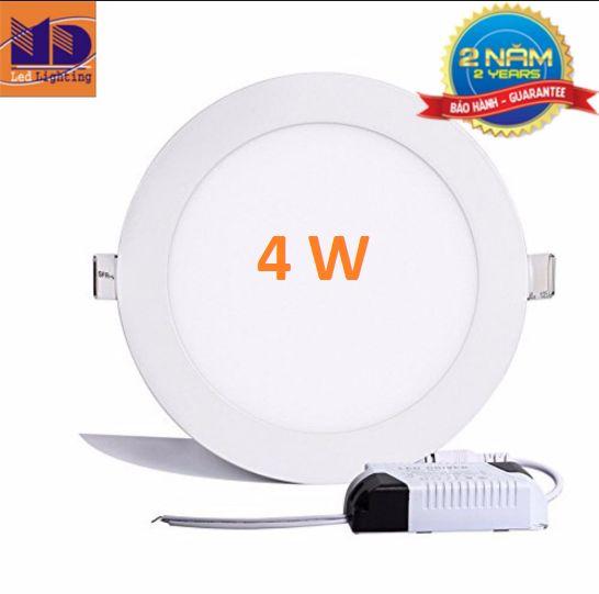Đèn LED âm trần tròn siêu mỏng 4w