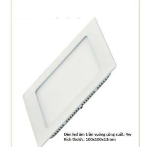 Đèn led âm trần vuông công suất 4W