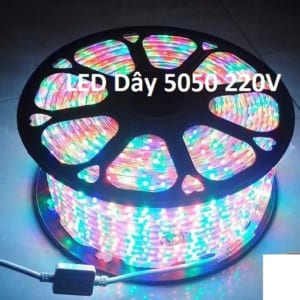Đèn led dây 5050V nhiều màu cuộn 100m