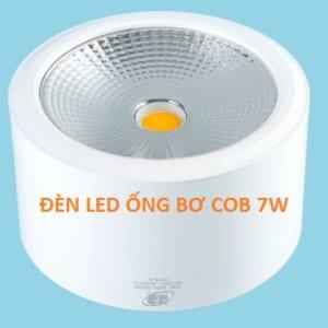 Đèn led ống bơ COB vỏ trắng 7W