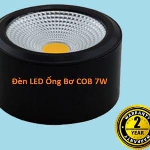 Đèn LED ống bơ COB công suất 7W vỏ đen