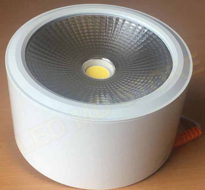 Đèn led ống bơ COB ốp nổi vỏ trắng