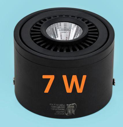 Đèn led ống bơ lắp nổi 7W đen
