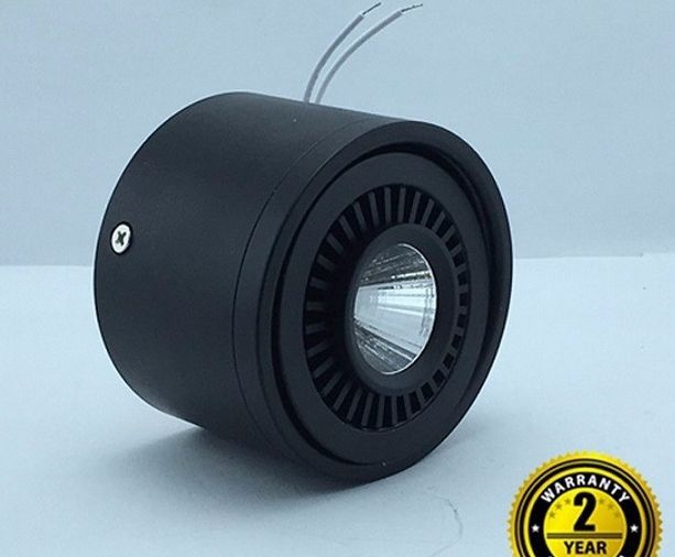Đèn led ống bơ COB lắp nổi vỏ đen