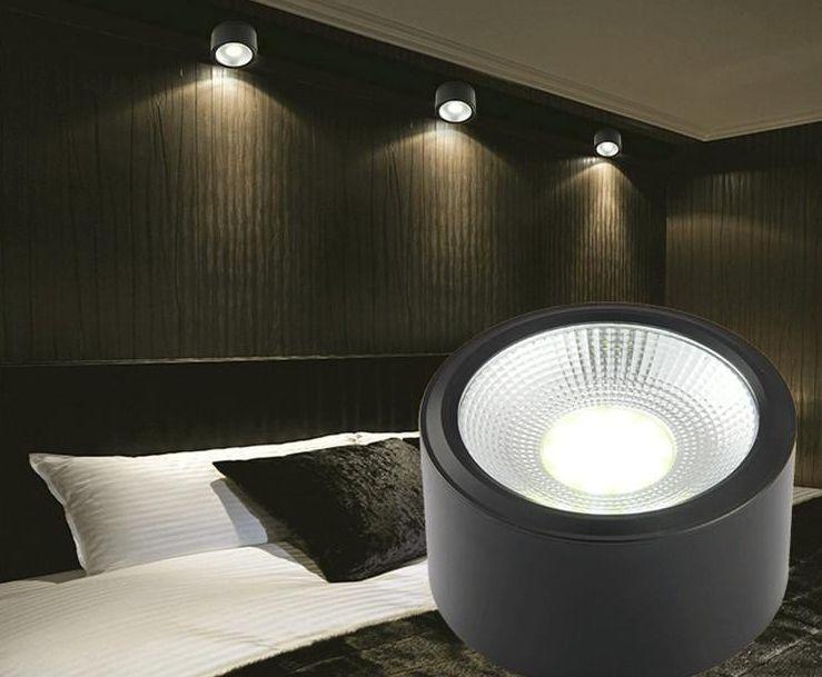 Đèn LED ống bơ COB trang trí không gian phòng ngủ