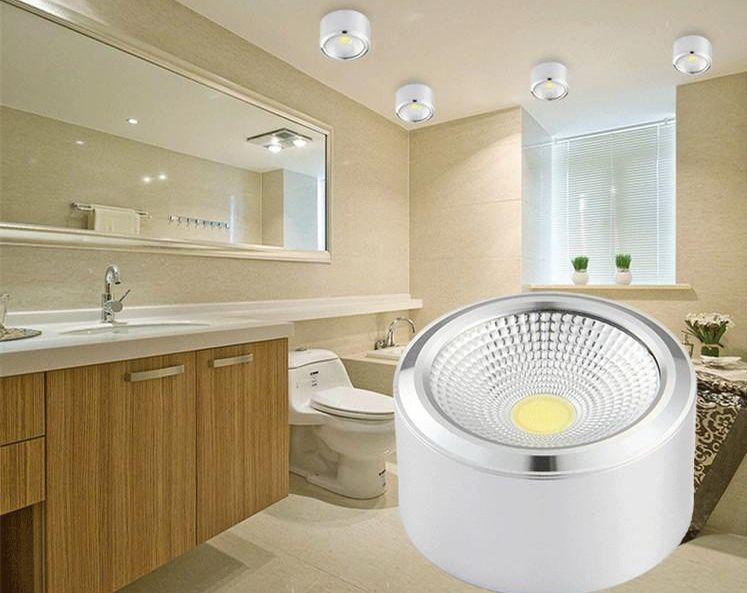 Đèn LED ống bơ COB vỏ trắng giúp không gian đẹp sang trọng và trang nhã
