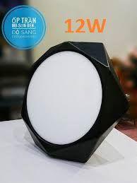 Đèn ốp nổi lục giác 12W vỏ sơn đen