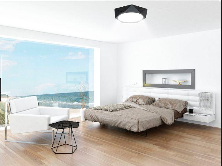 Đèn ốp nổi lục giác giúp không gian gia đình thêm sang trọng