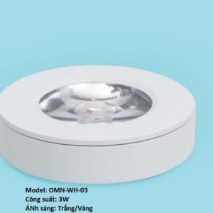 Đèn ốp nổi mini 3w vỏ trắng