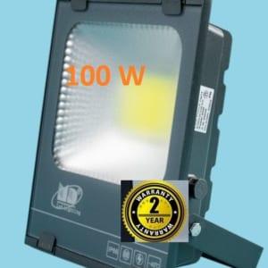 Đèn pha led 100w vỏ ghi