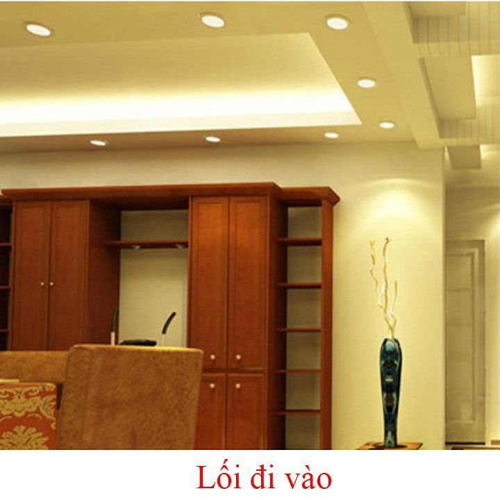 Đèn LED Âm trần tròn siêu mỏng chiếu sáng và trang trí không gian phòng khách