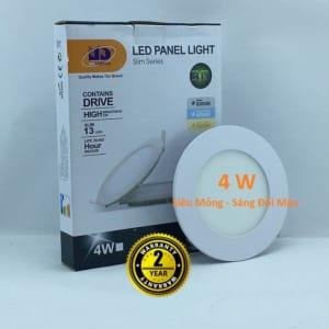 Đèn LED Âm Trần 3 màu 4w Tròn Siêu Mỏng