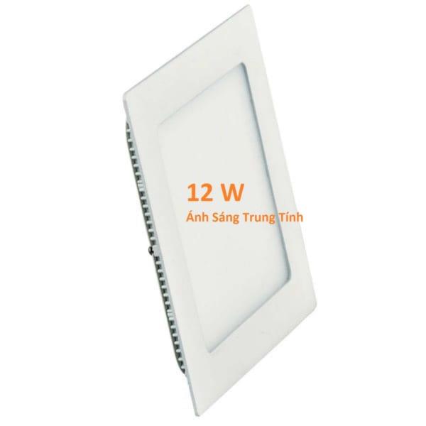 Đèn LED âm trần siêu mỏng 12w, hình vuông, ánh sáng trung tính