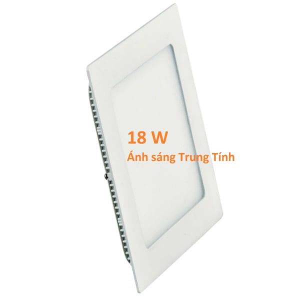Đèn led âm trần thạch cao 18w, sáng trung tính, vuông siêu mỏng