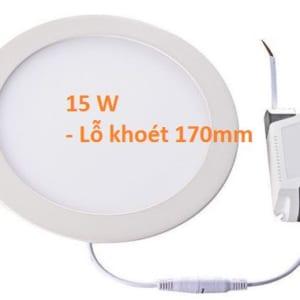 Đèn led âm trần tròn siêu mỏng 15w, lỗ khoét 170mm