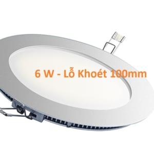 Đèn LED âm trần siêu mỏng 6w phi 100mm