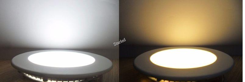 Đèn led âm trần tròn siêu mỏng ánh sáng Trắng/Vàng