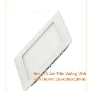 Đèn LED âm trần vuông 15w