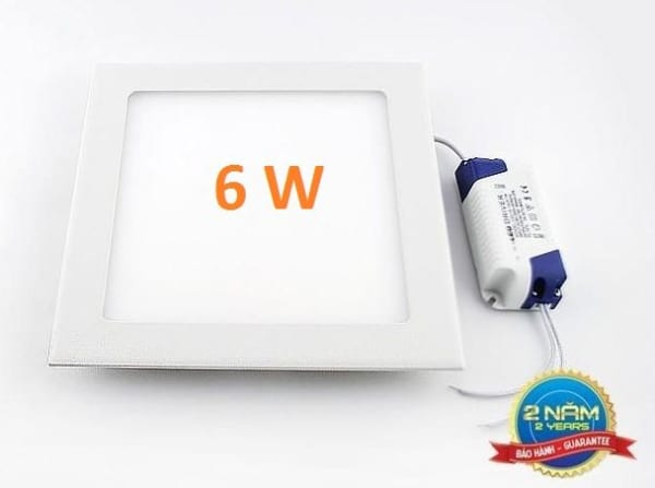 Đèn LED âm trần vuông 6w siêu mỏng