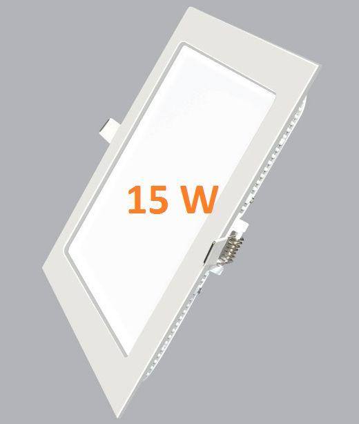 Đèn LED âm trần vuông siêu mỏng 15w