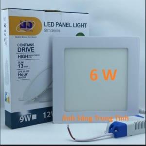 Đèn led âm trần vuông siêu mỏng 6w, sáng trung tính