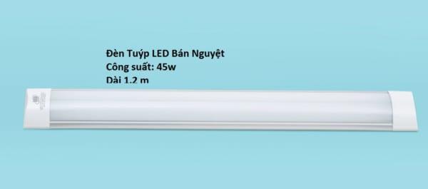 Đèn tuýp led bán nguyệt 45w, dài 1,2m