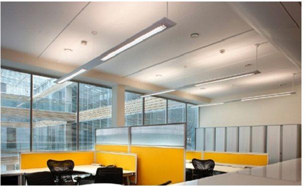 Đèn tuýp led bán nguyệt chiếu sáng văn phòng