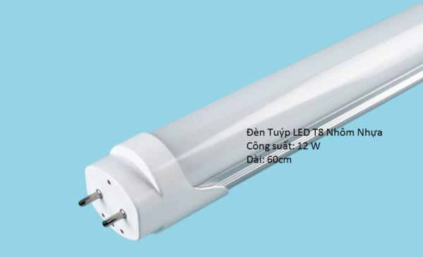Đèn Tuýp LED T8 nhôm nhựa