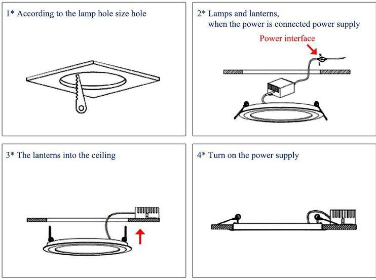 Hướng dẫn lắp đặt đèn led âm trần tròn siêu mỏng chi tiết từng bước