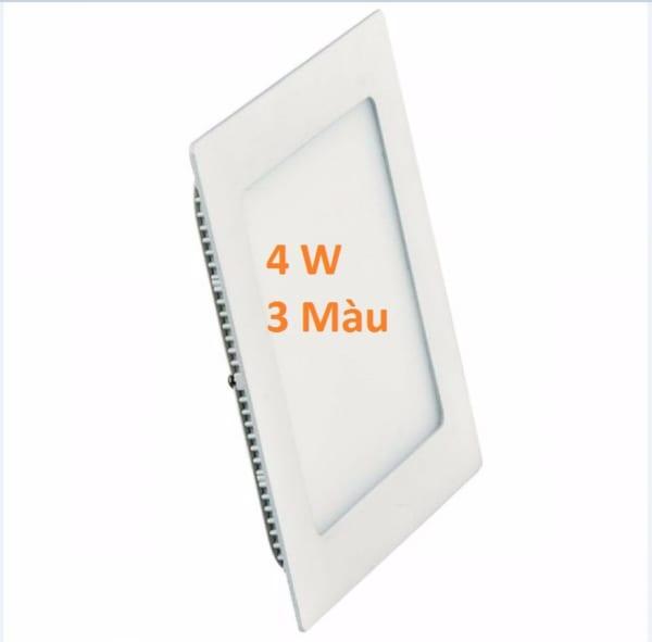 Đèn led âm trần vuông 3 màu 4w
