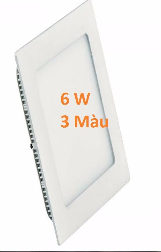 Đèn led âm trần vuông 3 màu 6w