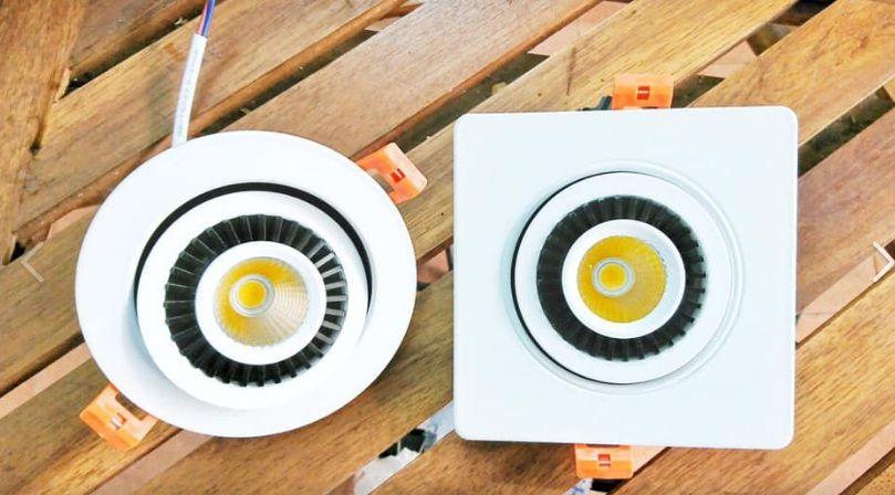 Đèn led âm trần 1 bóng xoay 360 độ