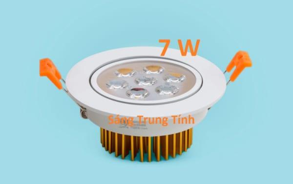 Đèn LED âm trần mắt ếch 7w , ánh sáng trung tính