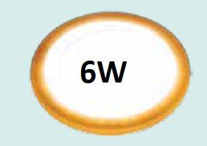 Đèn led âm trần siêu mỏng 6w viền vàng
