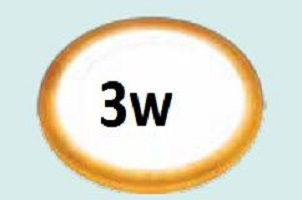 Đèn led âm trần siêu mỏng viền vàng 3w