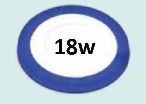 Đèn led âm trần siêu mỏng viền xanh dương 18w