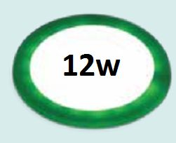 Đèn led âm trần siêu mỏng viền xanh lá 12w