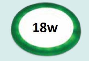 Đèn led âm trần siêu mỏng viền xanh lá 18w