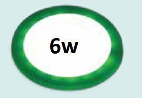 Đèn led âm trần siêu mỏng viền xanh lá 6w