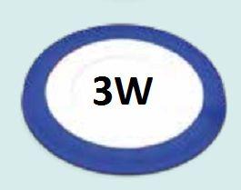 Đèn led âm trần viền xanh dương 3w siêu mỏngĐèn led âm trần viền xanh dương 3w siêu mỏng