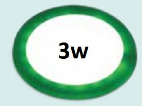 Đèn led âm trần viền xanh lá 3w siêu mỏng