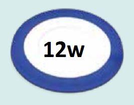 Đèn led âm trần viền xanh dương siêu mỏng 12wĐèn led âm trần viền xanh dương siêu mỏng 12w
