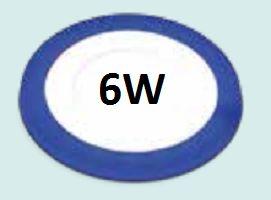Đèn led âm trần viền xanh dương 6w siêu mỏng