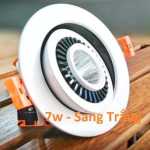 Đèn led âm trần xoay 7w - 1 bóng xoay 360 độ sáng trắng