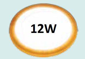 Đèn led ốp trần 12w siêu mỏng viền vàng