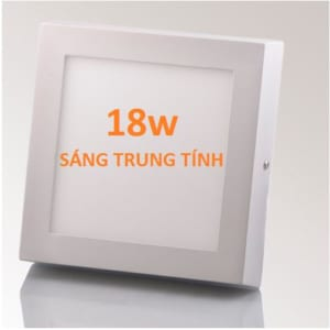 Đèn LED ốp trần nổi vuông, sáng trung tính