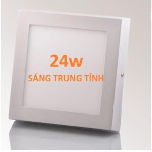 Đèn LED ốp trần nổi vuông sáng trung tính 24w